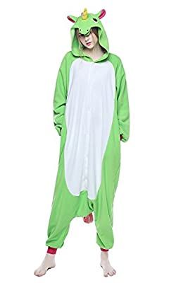 NEWCOSPLAY Unicorn Costume Sleepsuit Adult Pajamas