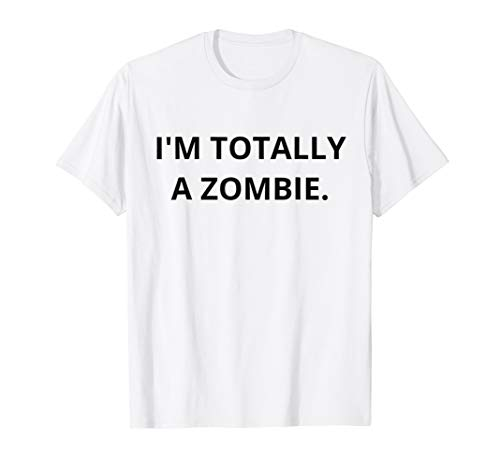 I'm a Zombie Halloween Tee for Hipsters Funny Sarcastic Gift -