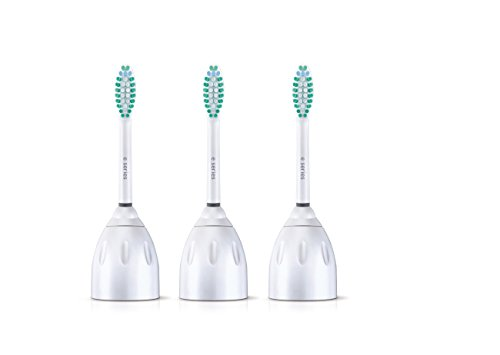 (Genuine Philips Sonicare E-Series replacement toothbrush heads, HX7023/64, 3-pk)