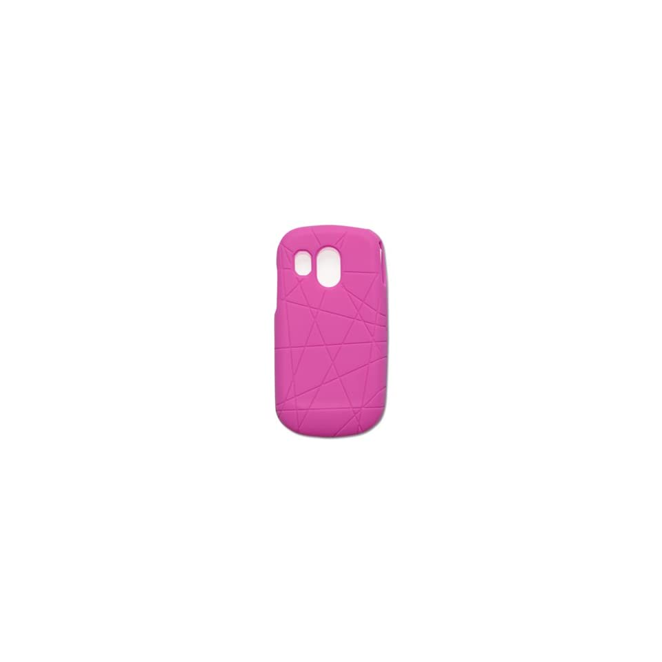 Fashionable Perfect Fit Soft Silicon Gel Protector Skin Cover (Faceplate/Snap On) Rubber Cell Phone Case with Screen Protector for Samsung SCH R860 Caliber MetroPCS   Hot Pink