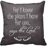 Chalkboard Bible Verse Quote Pillow Case