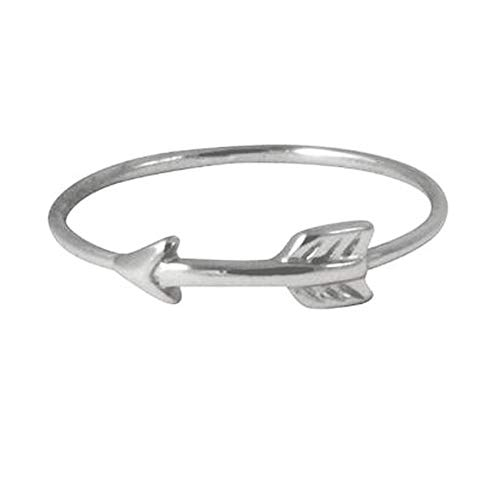 apop nyc 925 Silver Chevron Arrow Band Stacking Ring Size 8