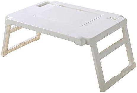 折りたたみテーブル ホームとオフィスのための適切な折り畳み式の脚を持つ多機能コンピュータ表折り畳み式ノートパソコンデスク ノートパソコンデスク折りたたみ式 (Color : White, Size : 41.5x58cm)