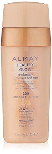 Almay Healthy Glow Makeup & Gradual Self Tan, 200 Light/Medium (Pack of -