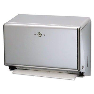 San Jamar T1950XC Mini C-Fold or Multifold Paper Towel Dispenser SANT1950XC