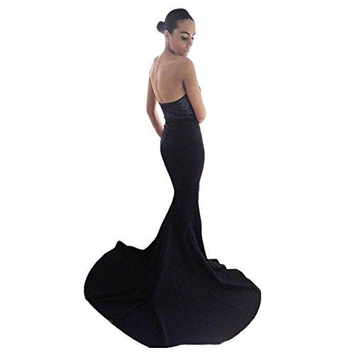 Dress Royal Women's Sequin Dreagel Dresses Evening Mermaid Blue Strapless Top Bridesmaid Long Prom zdwxafqP