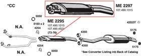 ANSA ME2295 350SL Muffler - Ansa Muffler