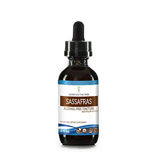 (Sassafras Tincture Alcohol-Free Extract, Organic Sassafras (Sassafras albidum) Dried Root Bark 2 oz)