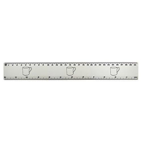 Top 'Handled Mug' 30cm (12 Inch) White Plastic Ruler (RL00027926) hot sale