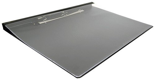 11x17 Vinyl Clipboard with Clear Cover and Jumbo Clip, 17 x 11 Inches, Black (645910) Vinyl Clipboard
