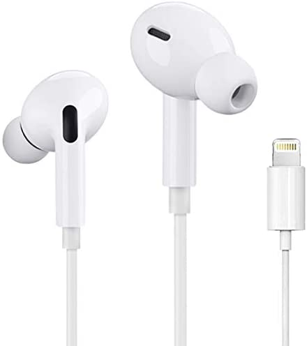 [Apple MFi Certified] Apple Earbuds with Lightning Connector(Built-in Microphone & Volume Control) In-Ear Stereo Headphones Headset Compatible with iPhone SE/11/XR/XS/7/7 Plus/8/8Plus – All iOS System