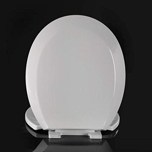 LXYFMS O-Shaped Toilet Cover, Thick Antibacterial Urea-Formaldehyde Universal Toilet Cover, White -41-43.5x36CM Toilet lid (Color : White)