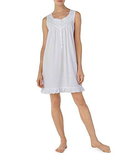 Eileen West Women's Modal Jersey Short Chemise Nightgown (White, M)