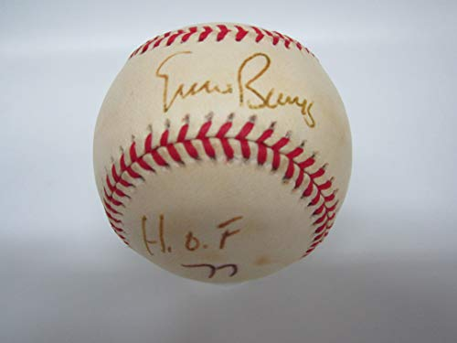 Cubs ERNIE BANKS AUTOGRAPHED SIGNED Baseball w/COA!! INSCRIBED HOF!