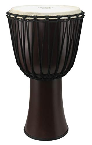 Tycoon Percussion 12 FIBERGLASS ROPE TUNED DJEMBE DARK BROWN FINISH, TFAJ-12DB)