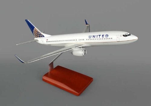 (United Boeing 737-800 1/100 Scale Post Continental Merger Livery Quality Airplane Model / Narrow-body Jet Airliner / Unique and Perfect Collectible Gift Idea / Aviation Historical Replica Gift Toy)