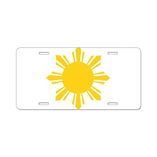 - CafePress - Philippines Flag Sun - Aluminum License Plate, Front License Plate, Vanity Tag