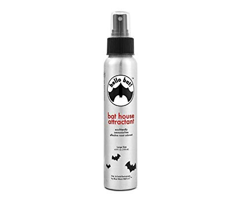 Bat House Attractant Scent Spray - Research-Based Pheromone (No Guano ) for Outside Bats Houses, Outdoors Box Pole, Poles, Large, Small Belfry, 1 2 3 Chamber, Telescoping Boxes Kit, Kits, Attract Bait ()