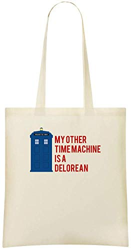 Eco Time Mon Other Friendly Stylish Everyday Use Bags Machine machine temps Delorean Soft For Delorean Shoulder Custom 100 Grocery à Printed Bag Tote autre Cotton amp; Custom Handbag My HYrr0wqUx