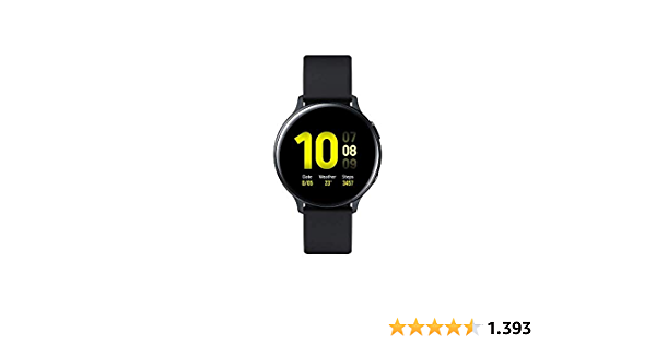 Samsung Galaxy Watch Active 2 (Bluetooth) 44mm, Aluminum, Black (Aqua Black) (SM-R820NZKAXEF)
