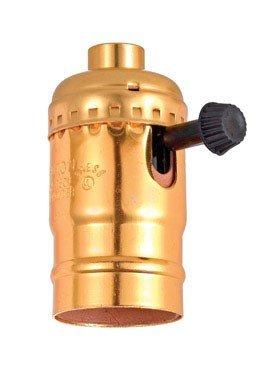 Leviton C20-10083-0PG Electrolier 1-Circuit Lamp Holder, 250 W, Incandescent, Medium, Phenolic Body, Aluminum Shell