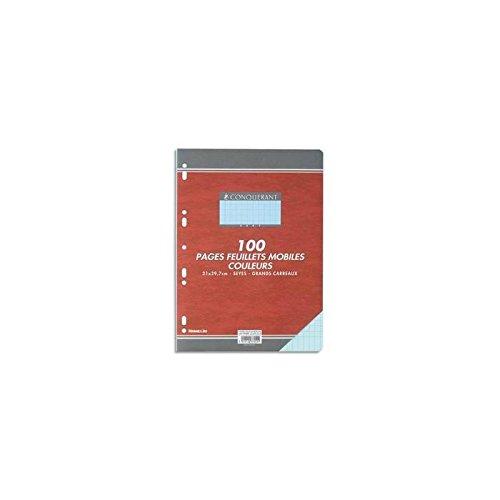 OXFORD OFFICE Feuillets mobiles 21x29,7 cm 100 pages grands carreaux bleus 80g CONQUÉRANT SEPT