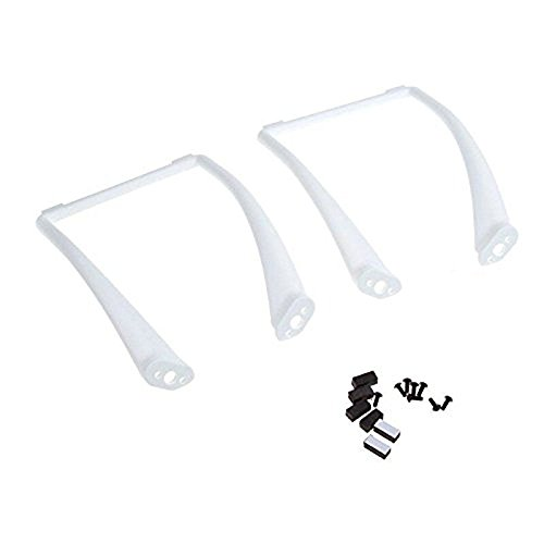 Qiyun Hobbypower Tall Landing Gear for DJI Phantom 1 2 Vision Quadcopter Wide & High Extend (White)