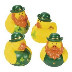 - One Dozen (12) Irish St. Patrick's Day Rubber Ducks