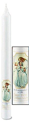 My First Holy Communion Catholic Service Paraffin Wax Taper Candle, 10 - Holy Candle Communion First