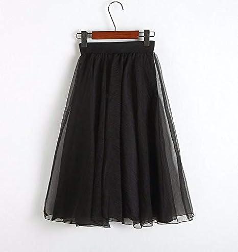 FSDFASS Faldas 2019 Vintage Negro Rosa Tulle Cintura Alta Arco ...