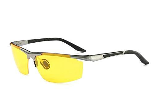 FlowerKui Conducción de Hombres Ciclismo Mujeres de al metal nocturna Silver sol libre de sol Protección de Marco Gafas visión aire sol Gafas UV400 de Gafas OArOx