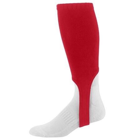 Solid Stirrup Socks - Augusta Sportswear Red Adult (10-13) Baseball/Softball 7
