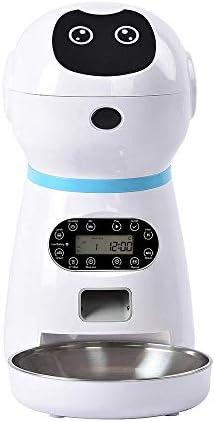 Dmqpp Automatische Haustier-Zufuhr Automatische Hundekatze-Zufuhr-Nahrung Hund Katze Trinken Bowl Sprachaufnahme-Schirm-Trockenfutter Bowls 323 * 186 * 355mm US (Color : UK, Size : 323 * 186 * 355mm)