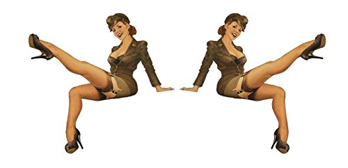 Set of 2 Remote Control (RC14) Pin Up Girl RC Airplane Sticker Decal