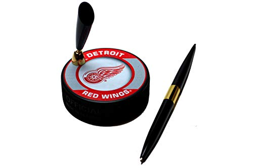 EBINGERS PLACE Detroit Red Wings Retro Series NHL Hockey Puck Pen - Puck Detroit Hockey Red Wings