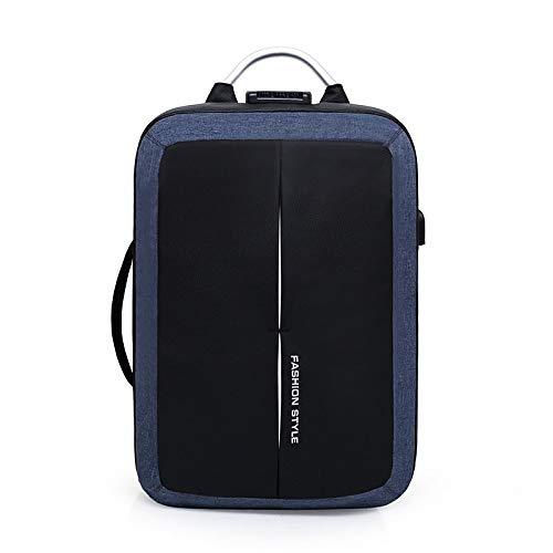 Sacs Zipper sac À Fourre QZTG Backpack Bags Backpack Tout Unisex Bleu main Black Canvas à Capacité Main Blue Gray USB Grande De Nylon Charging ZqadqP