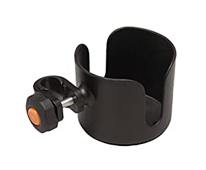 Medline Universal Cup Holder for Wheelchair, for transport chair, for rollator, black, adjustable