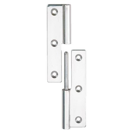 Lift-Off Hinge, Polished, 1.97 x 1.26 In.