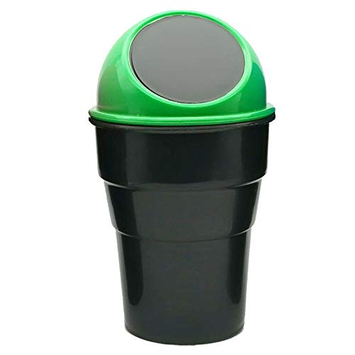 Wodeni Car Trash Can Mini Auto Garbage Can Vehicle Rubbish Bins Holder Automotive Waste Storage for Auto Car Home Office Bathroom Kitchen Verde