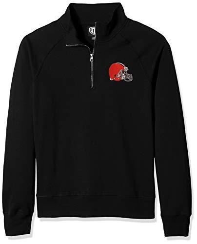 - NFL Cleveland Browns Men's Fleece 1/4-zip Pullover, Jet Black, Medium