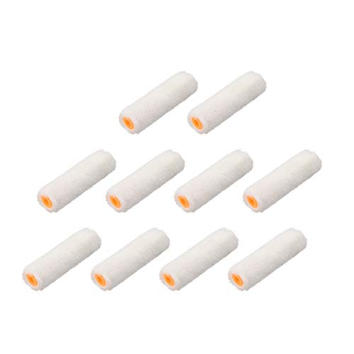 uxcell Paint Roller Cover 4 Inch Cotton Brush for Wall Painting Treatment White 10pcs