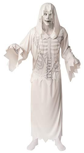 Fantasmas Para Halloween (Rubie's Unisex Opus Collection Adult Hooded Ghost Costume, White/Grey,)