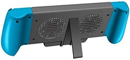 KEHUITONG ハンドルNSを充電冷却Nintendスイッチライトホストのための新しい適しているのはブラケットと外部の5600バッテリパックハンドルを伸ばします (色 : ブラック)