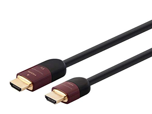 Monoprice HDMI High Speed Active Cable - 100 Feet - Black, 4K@60Hz, HDR, 18Gbps, 26AWG, YUV, 4:4:4, CL2 - Cabernet Ultra Active Series ()
