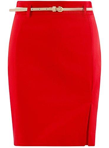 Collection Femme avec oodji 4500n Ceinture Jupe Rouge Droite 4PxxdO5w