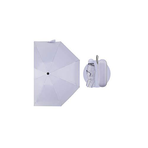 - 1pc practical Portable Mini Capsule Umbrella Ultra Light Sunscreen Sun UV Protection eco friendly,Purple