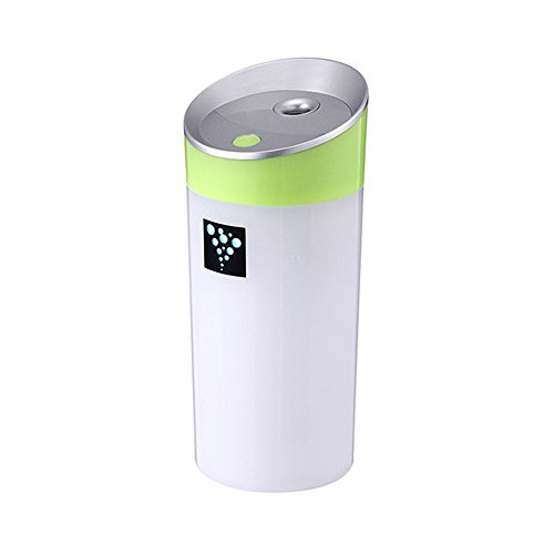 WitMoving Quiet USB Humidifier for Car,300ml Portable USB Humidifier Diffuser for Home Office Bedroom Baby Room Hotel Travel by WitMoving
