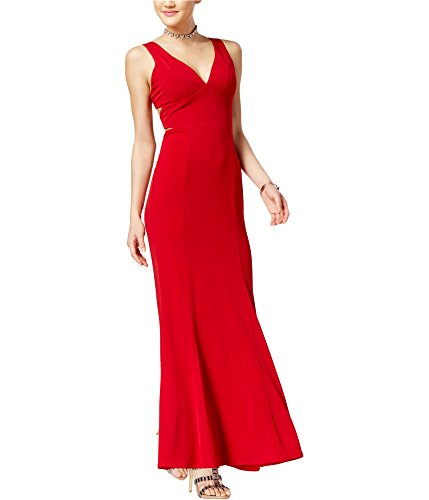 Crystal Doll Womens Cut-Out A-line Dress, Red, 3 (Crystal Doll Juniors Cutout A Line Dress)