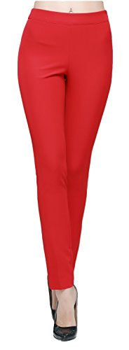 Orolay Women's Ankle Length Trousers High-waisted Red 12