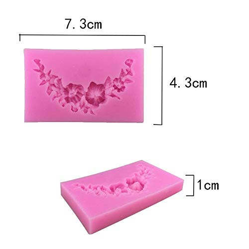 Flower Fondant Cake Molds, Crafting Projects & Cake Decoration, 1PCS Food Grade Silicone New Flowers Shape For Silicone Cake Molds, Fondant Cake Decorate ()